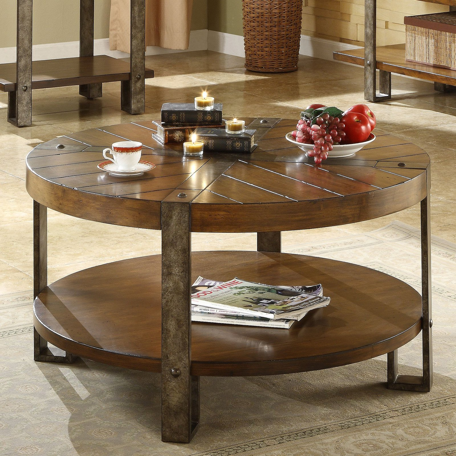 Awesome Riverside Sierra Round Cocktail Table   Walmart.com