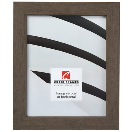 Craig Frames Gesso, Gray Plain Wooden Picture Frame, 16 by (Plain Gravy)