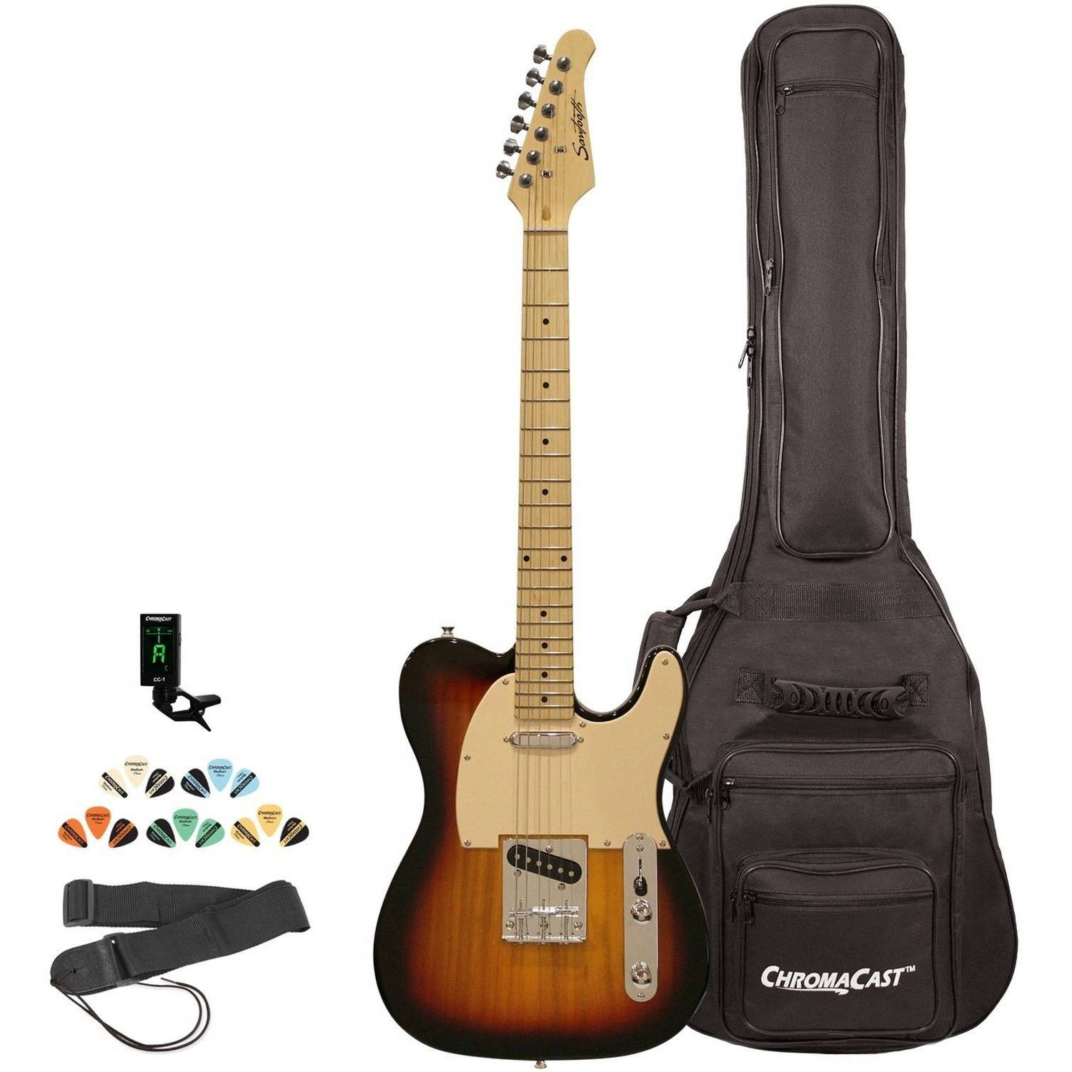 Sawtooth ET Series Electric Guitar Kit with ChromaCast Gig Bag & Accessories