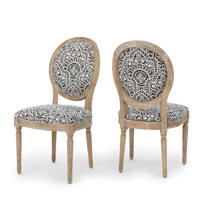 Hawthorne Fabric Dining Chair, Set of 2, Black and White Pattern