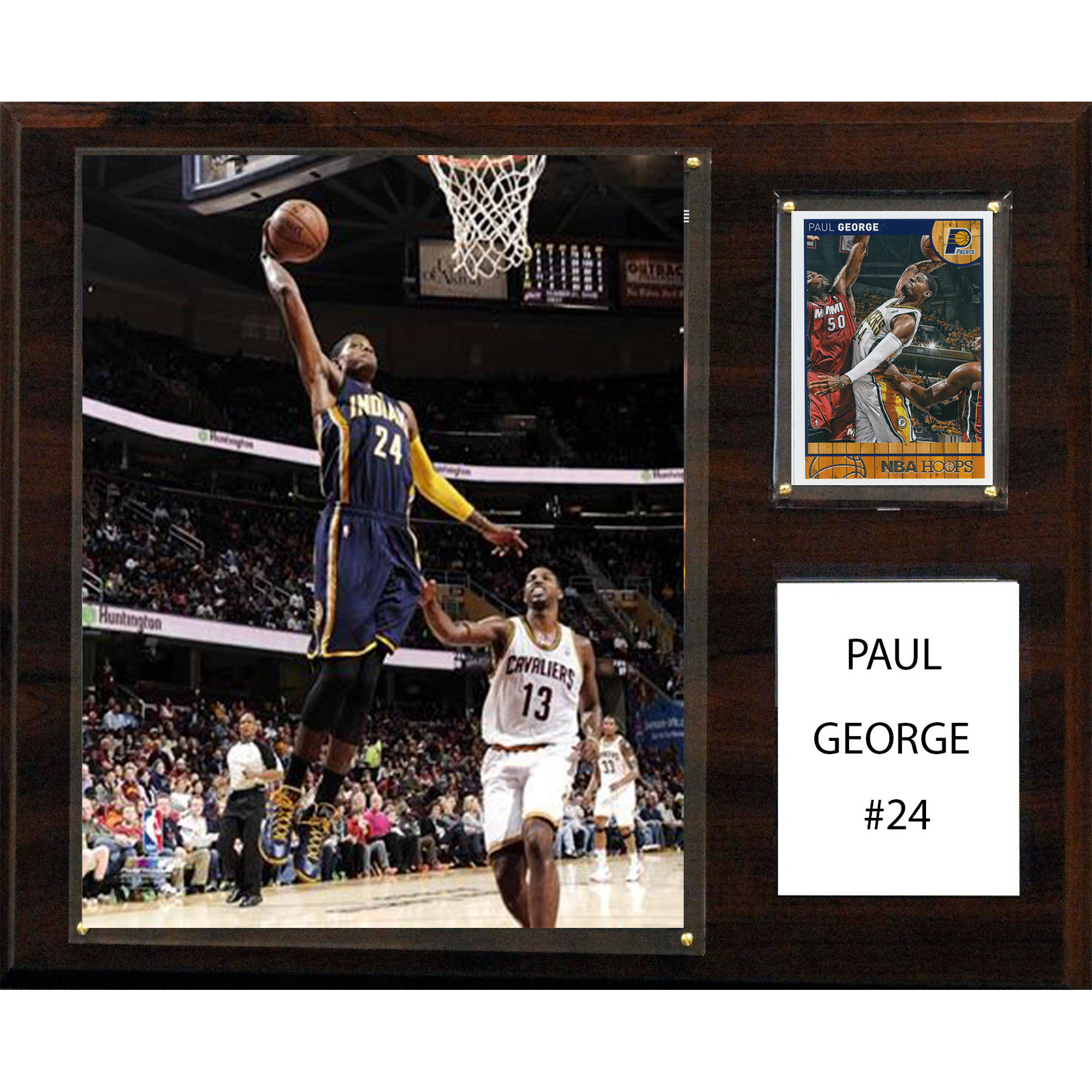 C&I Collectables NBA 12x15 Paul George Indiana Pacers Player Plaque