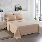 6Pieces 3000TC Soft Microfiber Bed Sheet Set,Wrinkle & Fade Resistant Collection Bed Sheet King