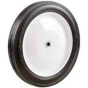 "Shepherd 9702 7"" Metal Hub Semi-Pneumatic Rubber Tire"