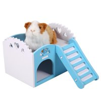 Ymiko Hamster House,Pet House,3Colors Pet Hamster Rat Small Animal Castle Sleeping House Nest Exercise Toy