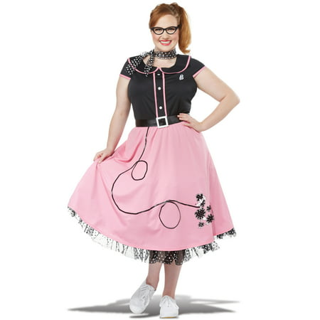 Fifties Sweetheart Plus Size Costume - Fifties Costume Ideas