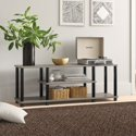 """Zipcode Design Colleen TV Stand for TVs up to 50"""" (French Oak Gray/Black)"""