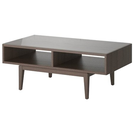 Ikea Coffee Table, Brown, Glass 1426.2055.2222 ()