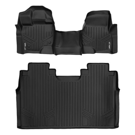 Black Super Balls.com (Maxliner 2015-2019 Ford F-150 Super Crew Floor Mats With Front Bench Seats Complete Set Black)