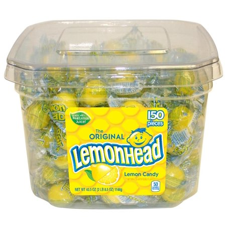 Lemonhead, Individually Wrapped Sour Candy, 150 Ct