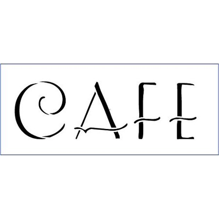 Cafe Stencil By Studior12 French Art Deco Word Art Reusable