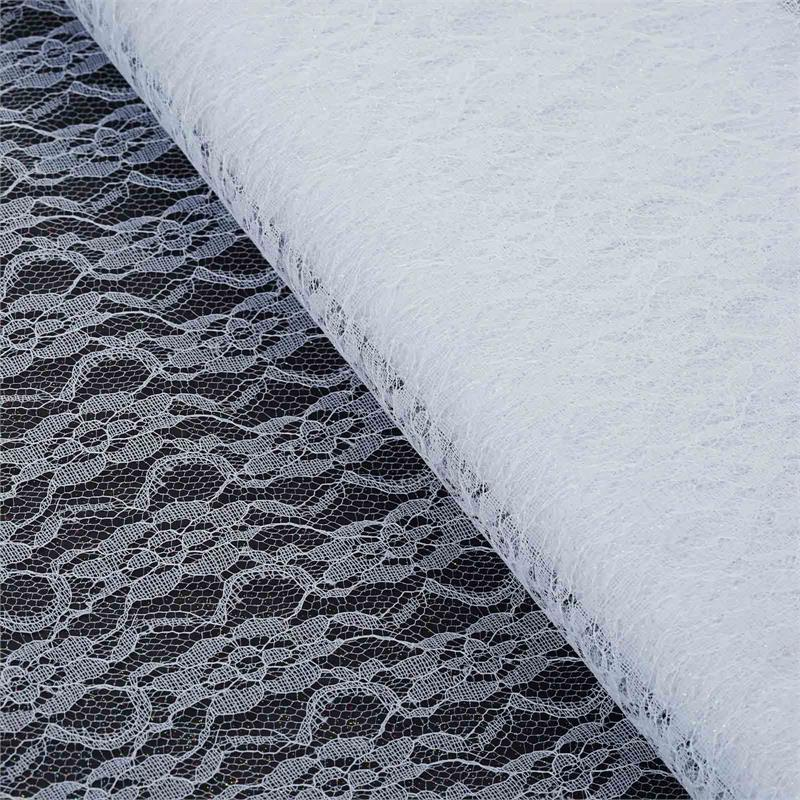 Efavormart 54 inch x 15 yards Glittered Lace Fabric Bolt For Party Decorations Banquet Event Sewing DIY Crafts Fabrics