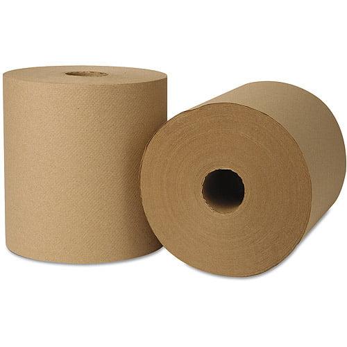 Wausau Paper EcoSoft Hardwound Roll Paper Towels, 6 rolls