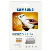 Samsung 32GB EVO Class 10 microSD Card with Adapter