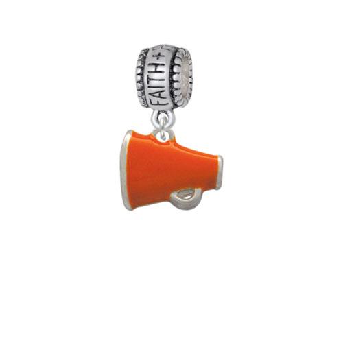 Small Orange Megaphone - Faith Hope Love Charm Bead