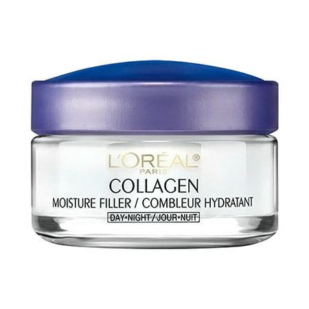 Loreal Paris Collagen Moisture Filler, Facial Day and Night Cream, 1.7 Oz, 3 Pack Collagen Moisture Filler