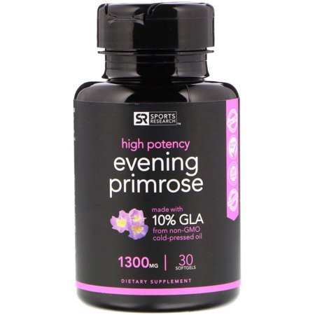 Sports Research  Evening Primrose Oil  1300 mg  30