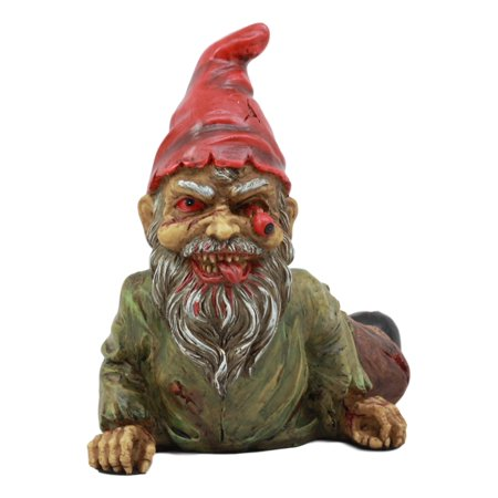 Spooky Halloween Home Decor (Ebros Walking Dead Severed Body Zombie Gnome Crawling On The Floor Statue 7