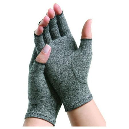 Mens Half Finger - Hands Support Arthritis Therapeutic Compression Half Finger Gloves For Men & Women -Small