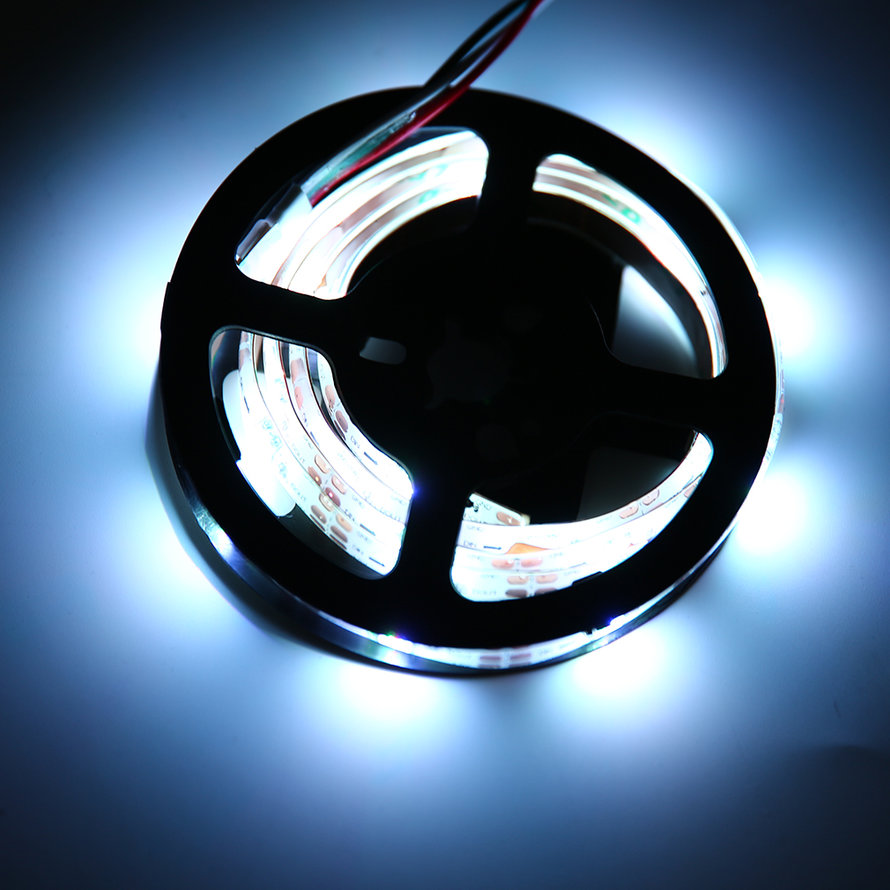 WS68 12 RGB 5050 SMD Flexible 5V LED Black Strip Lamps Light With Battery Box