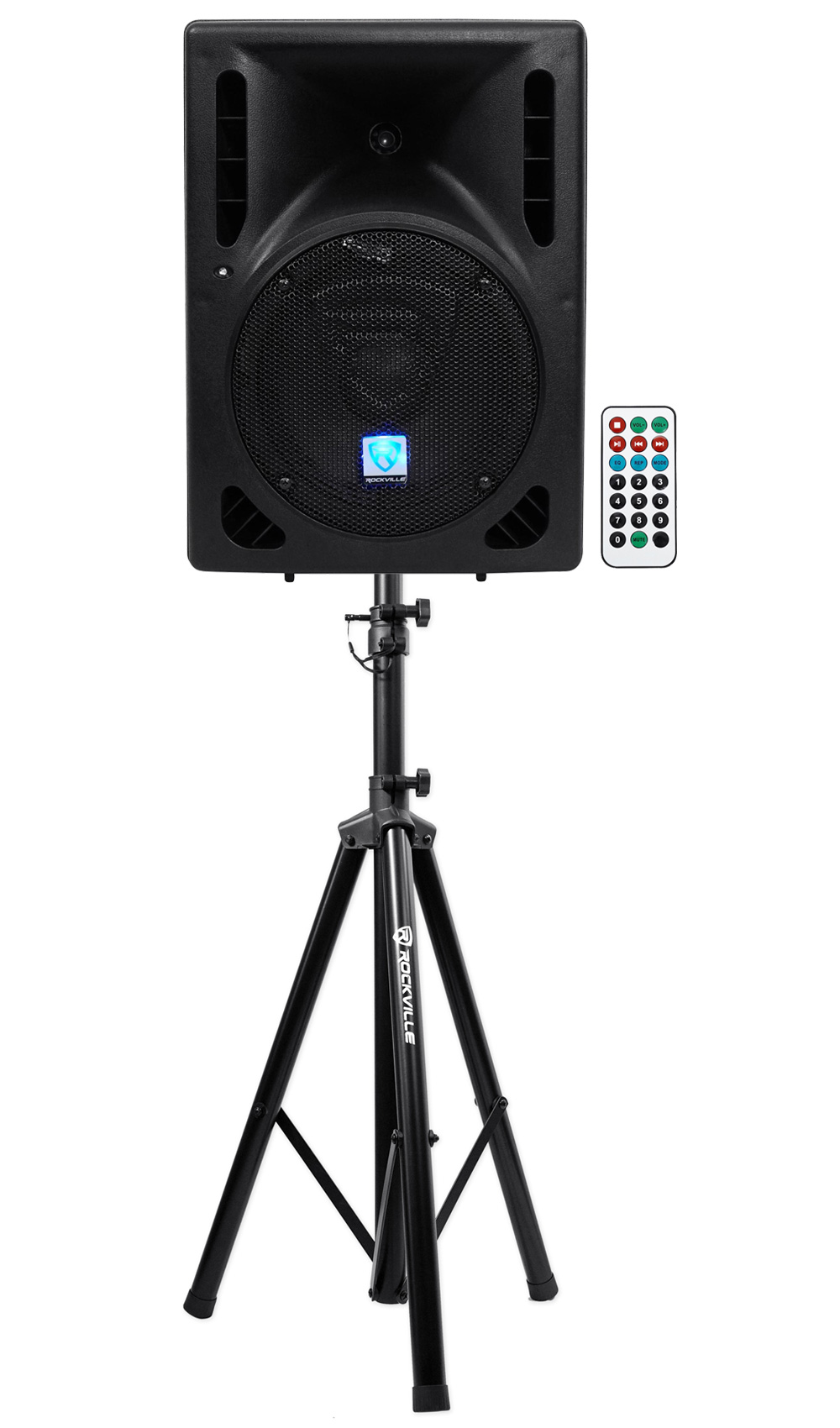 "Rockville RPG8BT 8"" Powered 400W DJ PA Speaker BlueTooth,USB,SD,Remote + Stand by ROCKVILLE"