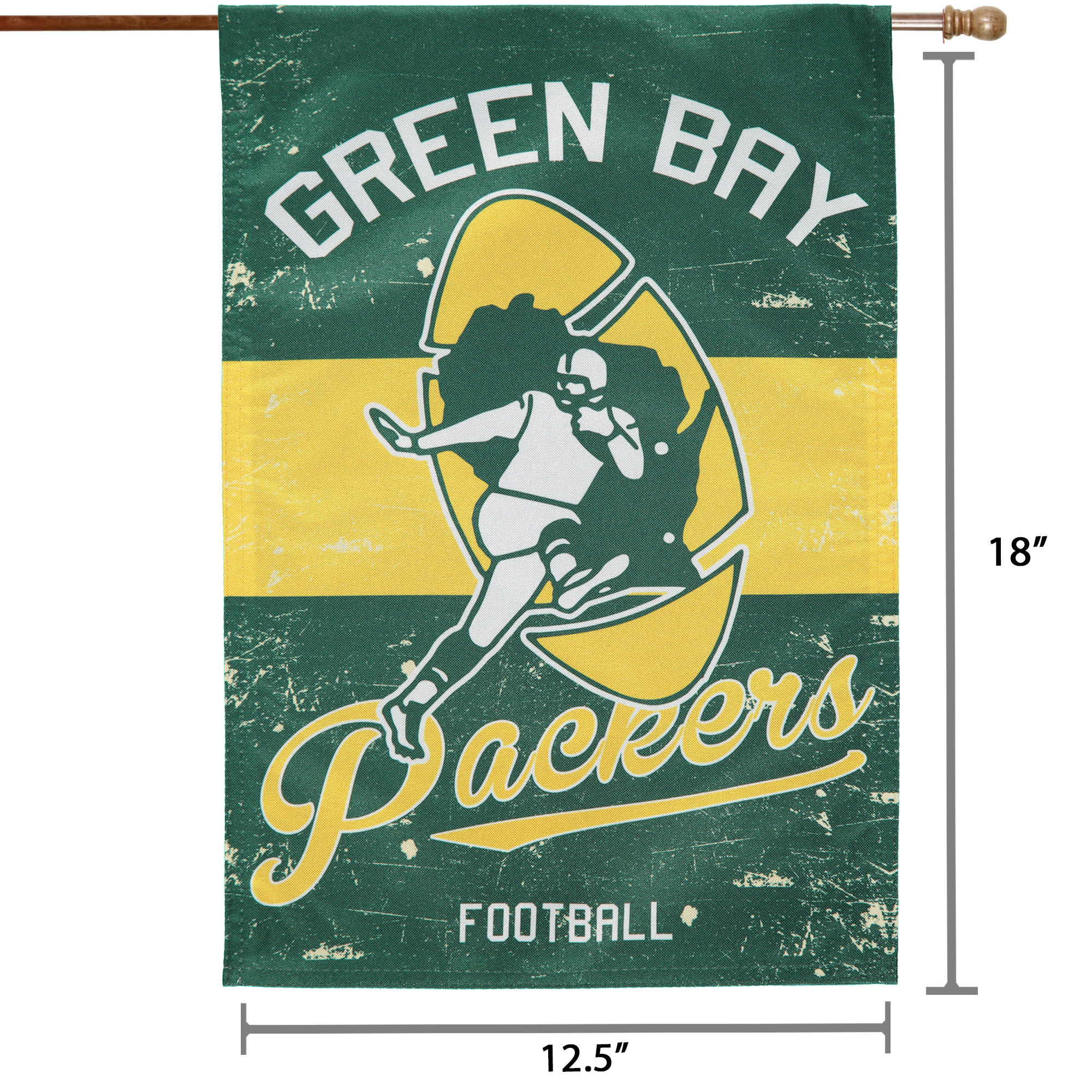 Green Bay Packers Trashcan trash can kitchen laundry shabby  football