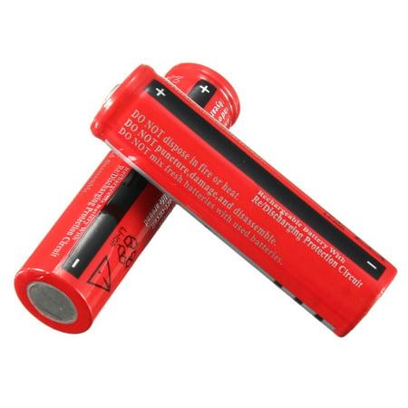 2x 3800mAh 18650 Battery 3.7v Li-ion Rechargeable Batteries For LED (3800mah Li Ion Battery)