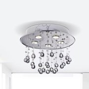 The Lighting Store Floating Bubble Chrome and White 5-light Crystal Chandelier