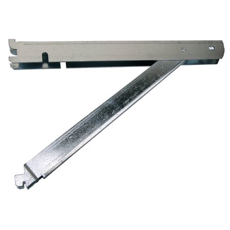 FAST-MOUNT 13-inch Supported Double Shelf Bracket, BK-0103-14, Great for organizing a garage, utility room or basement By John Sterling Ship from US