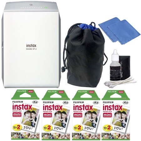Fujifilm Instax Share Sp 2 Smart Phone Printer Silver With 80 Instant Films