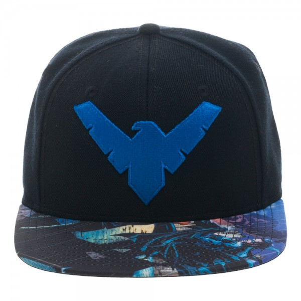 Baseball Cap Batman Nightwing Sublimated Bill Snapback New Hat sb2tspbtm by BioWorld