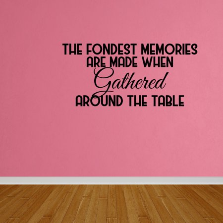 Wall Decal Quote Fondest Memories Kitchen Dining Room DP203
