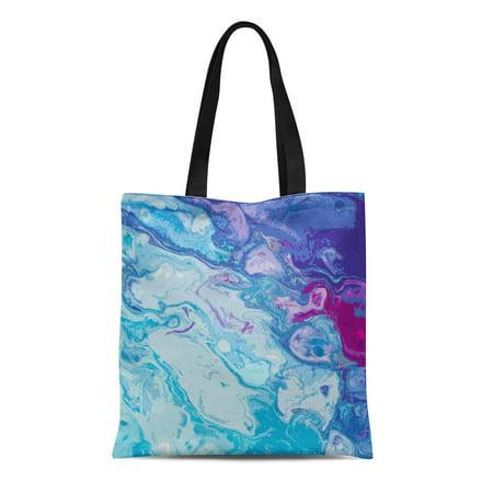 JSDART Canvas Tote Bag Unicorn Modern Marble Abstract Reusable Handbag Shoulder Grocery Shopping Bags - image 1 of 1