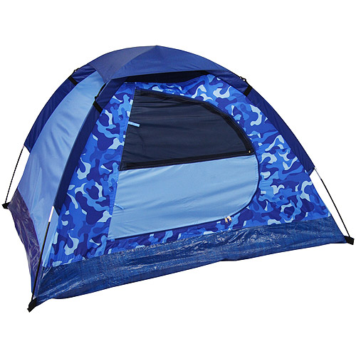 5' x 4' Kids Dome Tent, Blue Camouflage