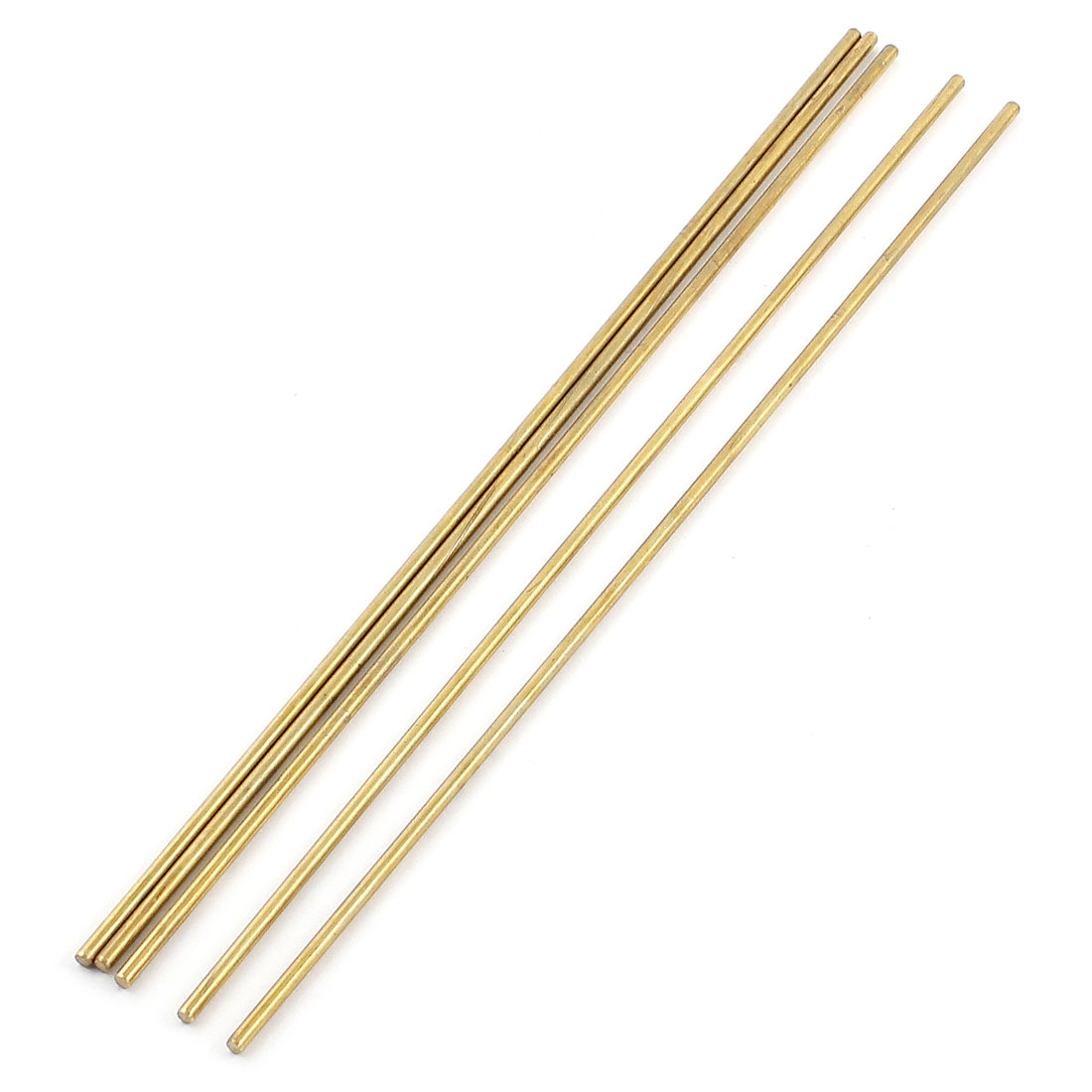Unique Bargains 5 Pcs 3mm x 250mm Brass Solid Rod Lathe Bar Stock Tool
