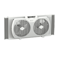Comfort Zone 9 in. Twin Window Fan with Reversible Airflow Control, White