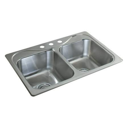 Sterling by Kohler Southhaven® X 11855-3 Double Basin Drop In Kitchen Sink