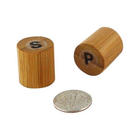 PacknWood 210BKPS 0.67 In. Bamboo Mini Salt & Pepper Set, Pack Of