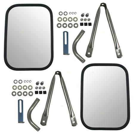 Gmc Suburban Rear Bumper Bracket (BROCK Universal Camper Tow Mirrors 7.5 x 10.5 Stainless Steel w/ Short Bracket Set Pair Replacements for Chevrolet GMC Suburban Pickup Truck 12341380 )