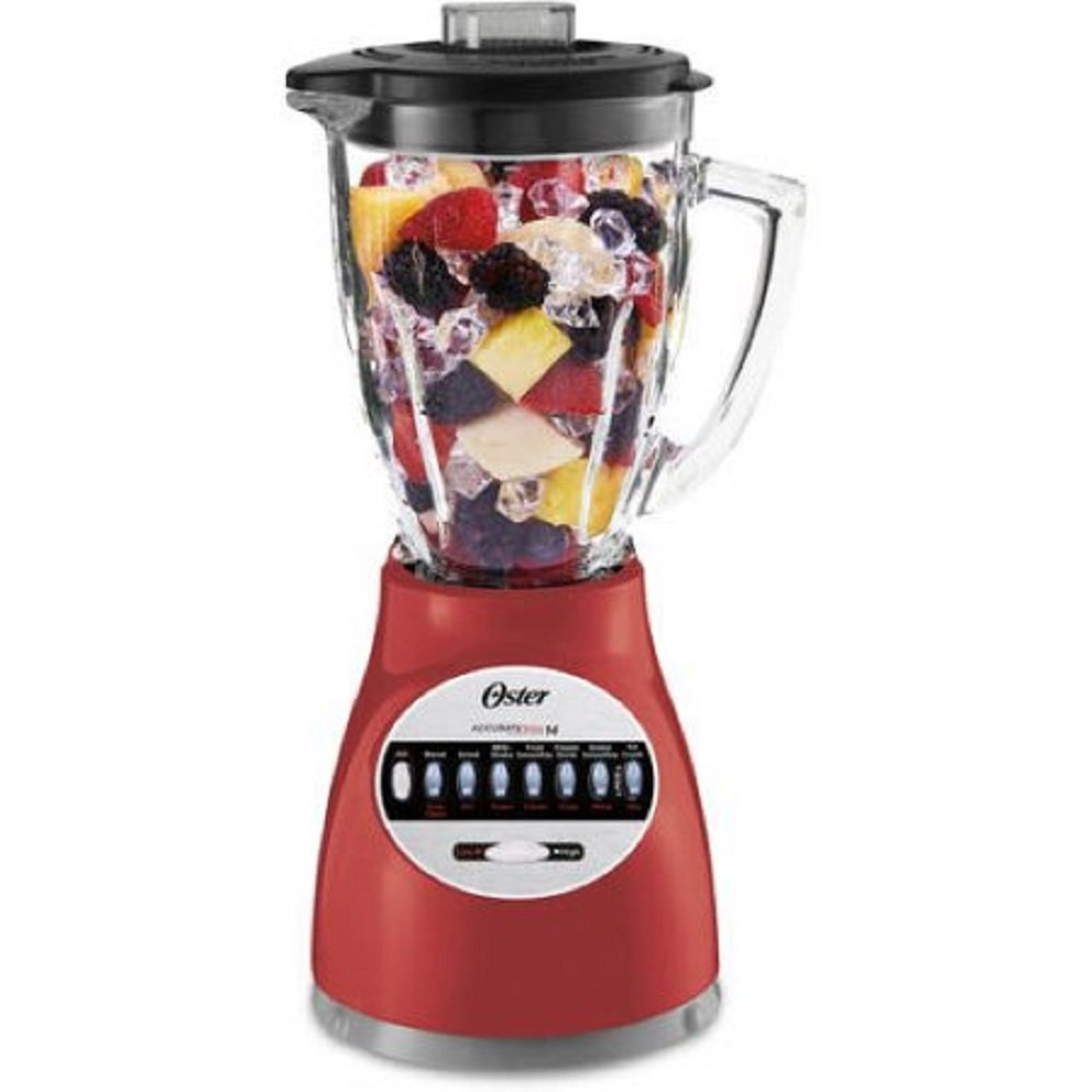Blender 14 Speed with Glass Jar 6694-R Red By Oster