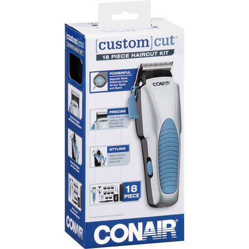 Conair Custom Cut Haircut Kit, Model HC244GBV, 18 pc