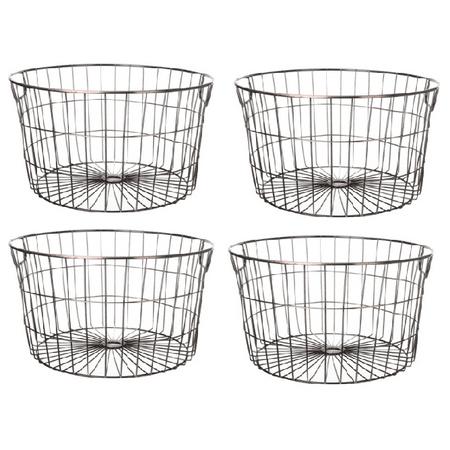 Mainstays Medium Round Wire Copper Basket - 4 Pack Bronze Crystal Basket