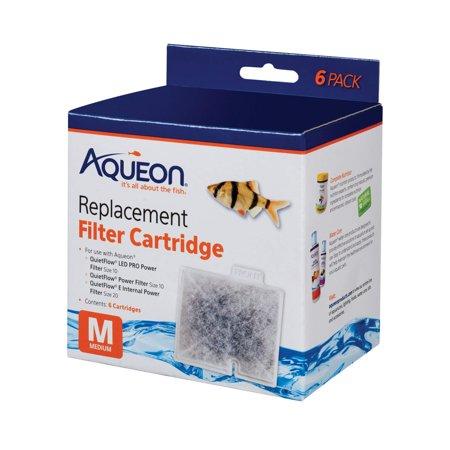 Aqueon Filter Cartridge, Medium, 6-Pack