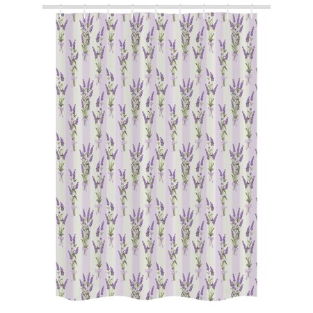 Lavender Stall Shower Curtain, Stripes and Flowers with Ribbons ...