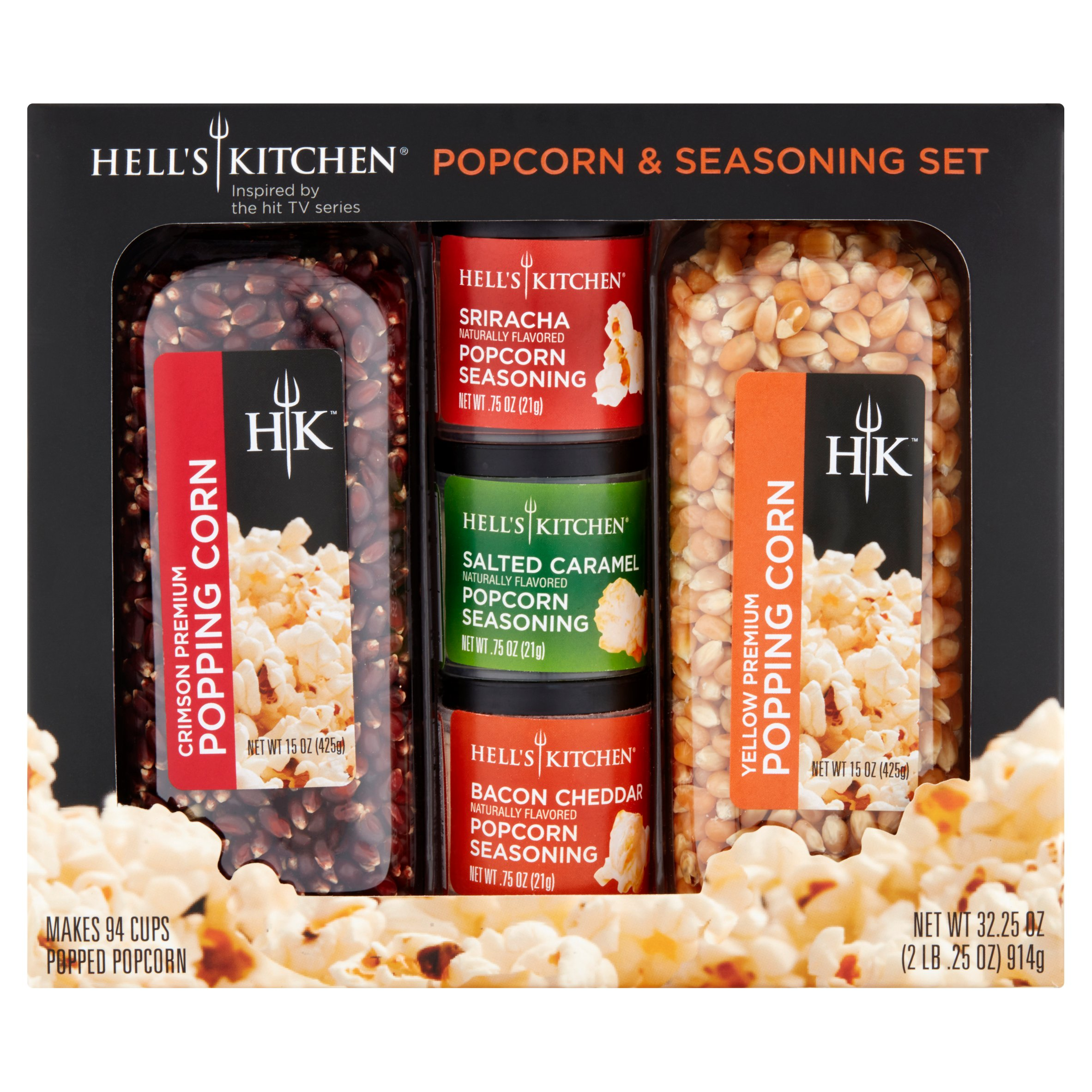 Hell's Kitchen Popcorn & Seasoning Set, 32.25 oz