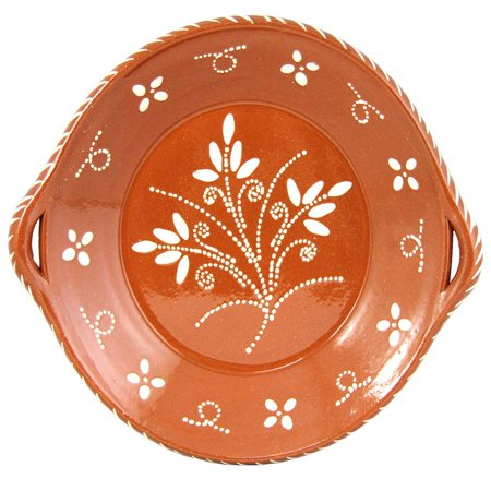 Traditional Portuguese Terracotta Clay Hand Painted Cooking Pot With Handles (Terra Cotta Cooking)