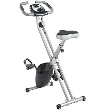 SKONYON Folding Magnetic Upright Exercise Bike with Pulse