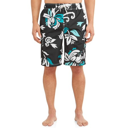 Kanu Surf Men's Oahu Print Long Trunk Swimsuit
