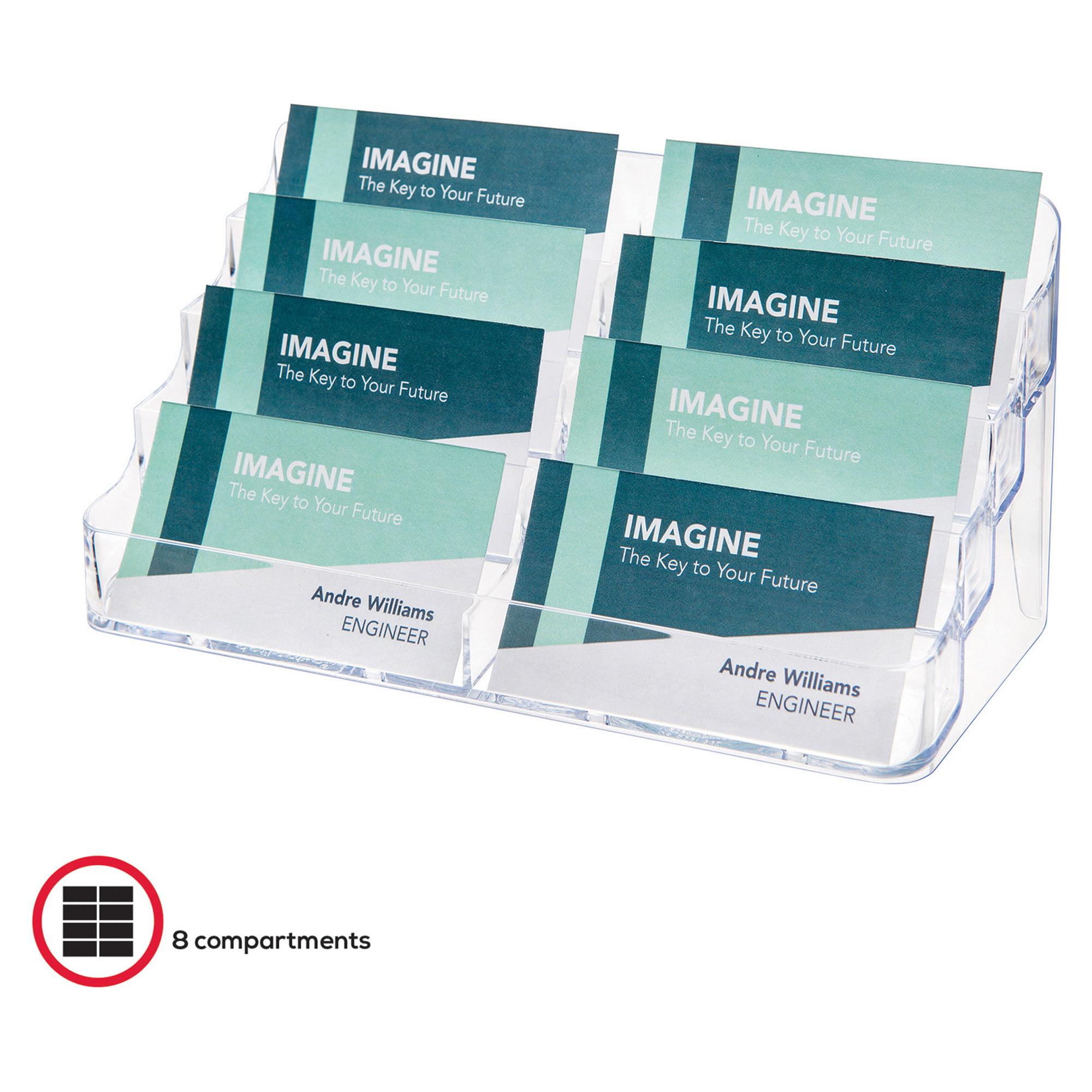 deflecto Eight-Pocket Business Card Holder, Capacity 400 Cards ...