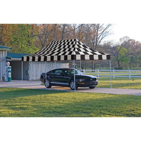 10' x 20' Pro Pop-up Canopy Straight Leg, Checkered Flag Cover