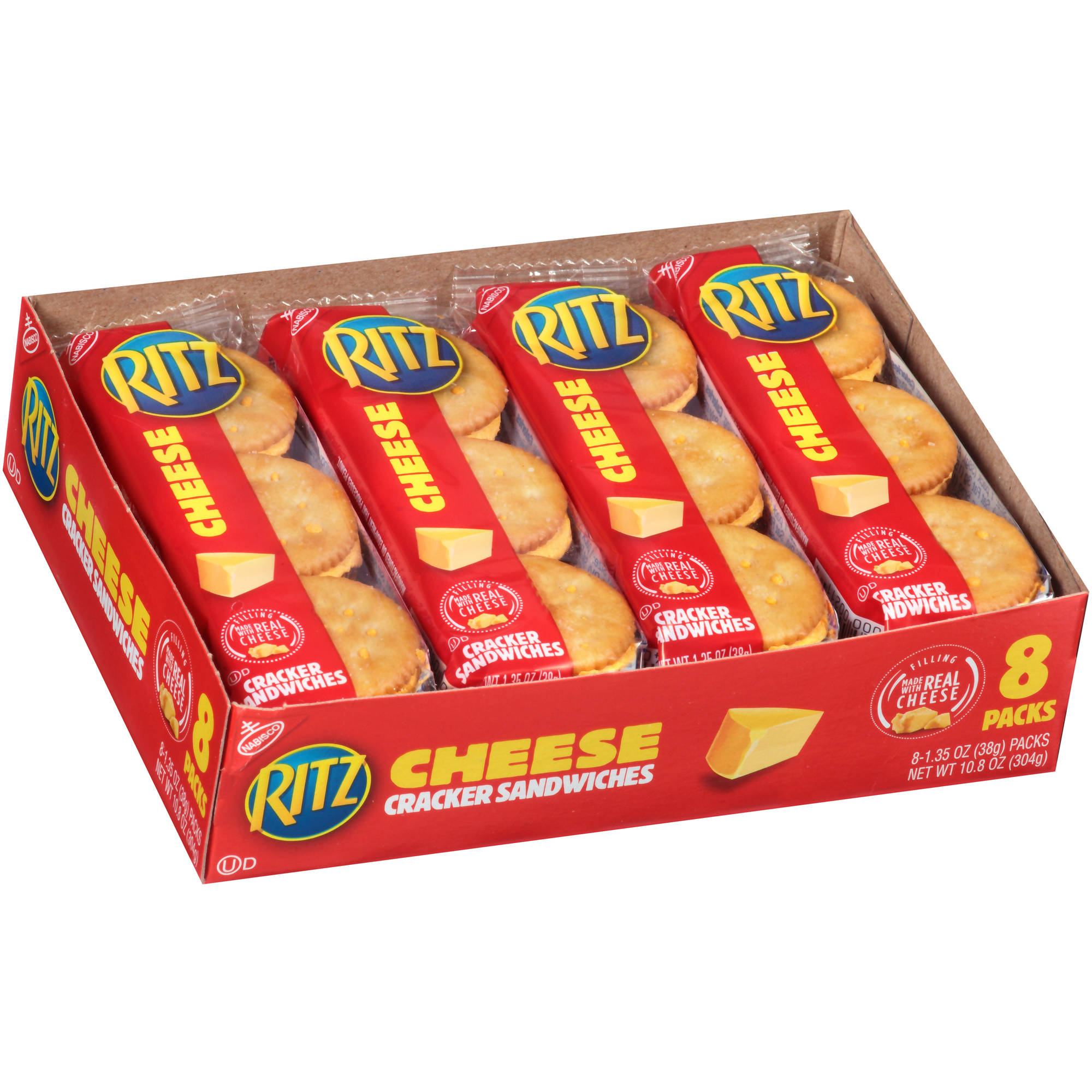 Nabisco Ritz Cheese Cracker Sandwiches, 1.35 oz, 8 count